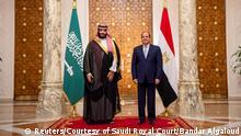 Ägypten Mohammed bin Salman, Kronprinz Saudi-Arabien & Abdel Fatah al-Sisi, Präsident