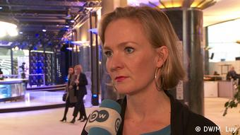 EU-Abgeordnete Marietje Schaake, ALDE ( Europäische Liberale), EU-Parlament (DW/M. Luy)
