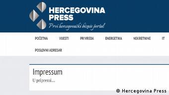 Bosnien und Herzegowina Stadt Trebinje   Medien & fehlendes Impressum (Hercegovina Press)