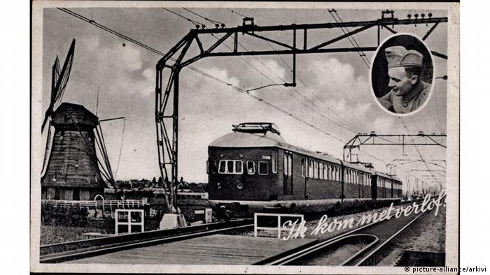 A postcard of the Dutch railway from 1934 (picture-alliance/arkivi)
