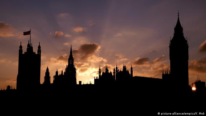 Silhouette of Westminster during a sunset