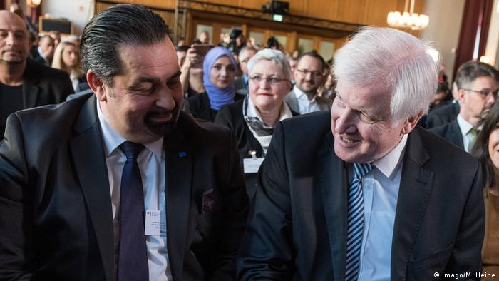 Chairmen of the Central Council of Muslims, Aiman Mazyek, sat with German Interior Minister, Horst Seehofer (CSU)