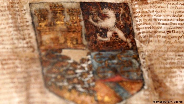 Christopher Columbus Wappen Versteigerung (Imago/EFE/V. Suarez)
