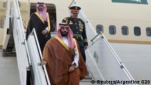 Argentinien Mohammed bin Salman, Kronprinz Saudi-Arabien | Ankunft in Buenos Aires