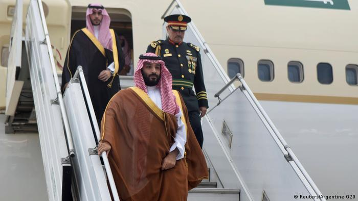 Argentinien Mohammed bin Salman, Kronprinz Saudi-Arabien | Ankunft in Buenos Aires (Reuters/Argentine G20)