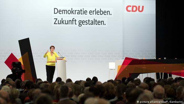 Annegret Kramp-Karrenbauer, líder del partido CDU