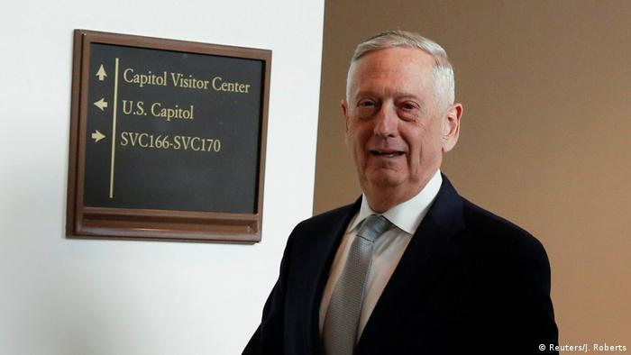 US Defense Secretary Jim Mattis arrives for a closed briefing for senators on the latest developments related to the death of Saudi journalist Jamal Khashoggi