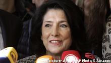 Georgien Wahlen Salome Zurabishvili
