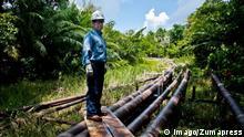 Peru Öl-Pipeline im Urwald
