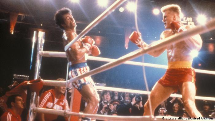 Sylvester Stallone in Rocky 4 im Ring für Der Kampf des Jahrhunderts (picture-alliance/United Archives)