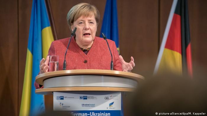 Berlin Kanzlerin Merkel bei Deutsch-Ukrainisches Wirtschaftsforum (picture-alliance/dpa/M. Kappeler)