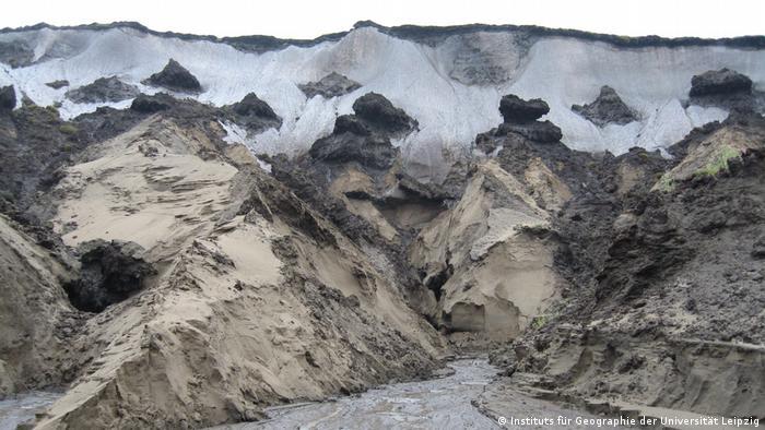 Деградация вечной мерзлоты в дельте Лены