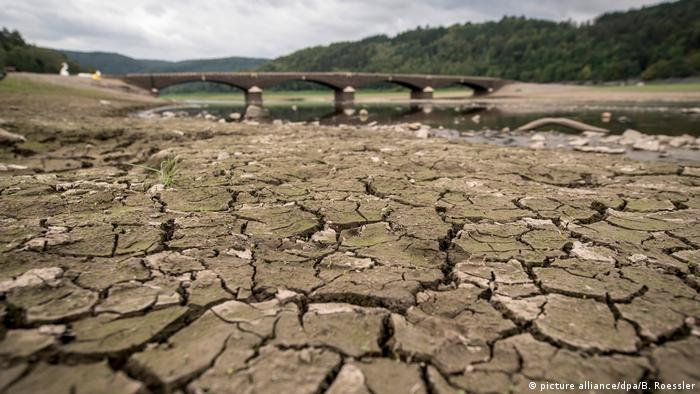 A dried up German river