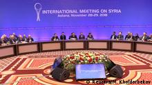 Members of the delegations attend a session of Syria peace talks in Astana, Kazakhstan November 29, 2018. REUTERS/Mukhtar Kholdorbekov