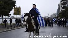 Griechenland Proteste Namensstreit mit Mazedonien in Thessaloniki