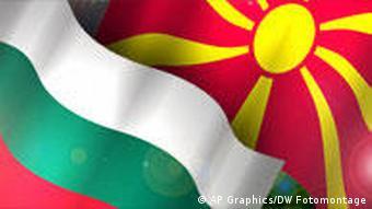 Symbolbild Mazedonien Bulgarien Fahnen Flaggen