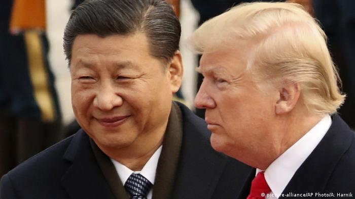 China G20 l US Präsident Donald Trump and Chinesischer Präsident Xi Jinping (picture-alliance/AP Photo/A. Harnik)
