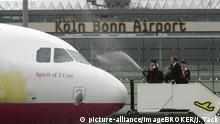 Deutschland Flughafen Köln/Bonn - Flugzeugtaufe Germanwings Airbus A319