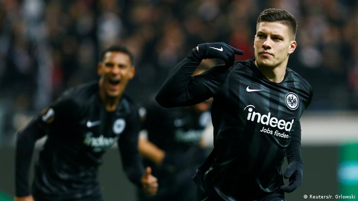 Luka Jovic (right) has scored 12 league goals for Frankfurt this season (Reuters/r. Orlowski)