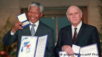 Friedensnobelpreis Mandela und de Klerk