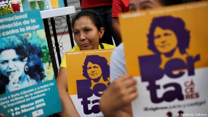 Honduras Prozess zum Mord an Berta Cáceres