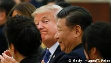 Xi Jinping und Donald Trump (Getty Images/T. Peter)