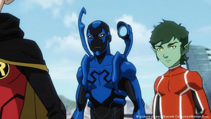 Filmstill Teen Titans - Blue Beetle (picture-alliance/Everett Collection/Warner Bros.)