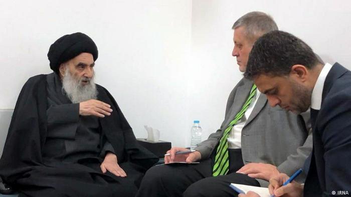 Grand Ayatollah Ali al-Sistani with UN envoy