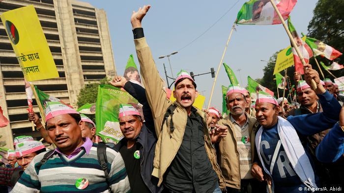 Bauern protestieren in Neu Delhi
