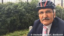 Türkei der Radelnde Bürgermeister Murat Aydin. Foto: Christian Buttkereit / Deutschlandfunk