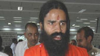 Indischer Yoga Guru Baba Ramdev