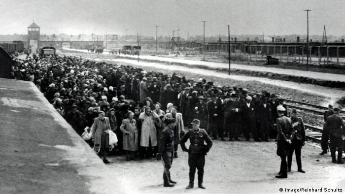 Arrival of Hungarian Jews at Auschwitz-Birkenau death camp, 1944