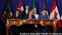 Argentinien G20 Gipfel Donald Trump Justin Trudeau und Enrique Pena Neto