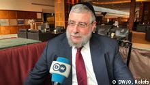DW Interview - Oberrabbiner Pinchas Goldschmidt