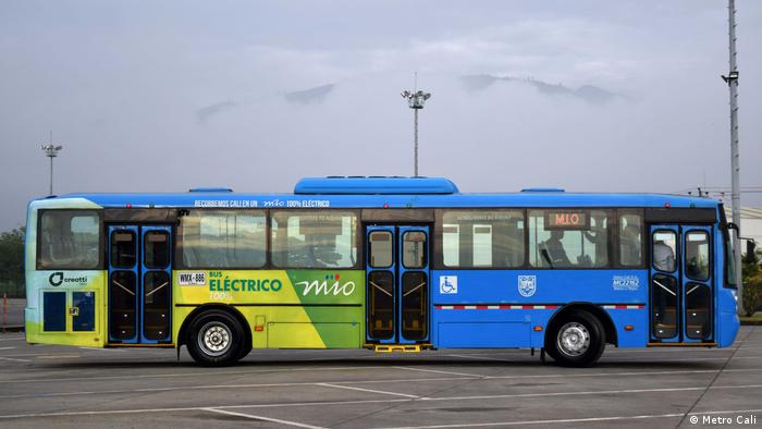 New fleet of electric buses in Cali, Colombia