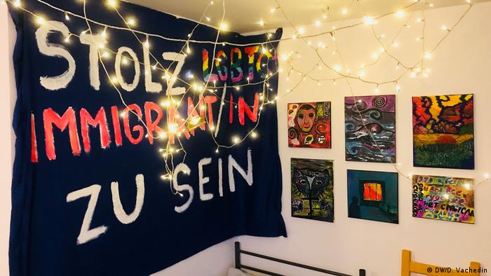 A room in Berlin's home for LGBTQI refugees
