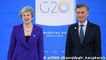 Argentinien G20 Gipfel 2018 - May und Macri