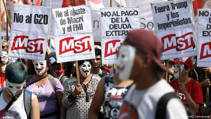 Протесты по время саммита G20 в Аргентине