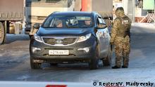 Ukraine Russland Konflikt l Grenzkontrolle in Goptovka