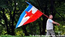 Belgrad Tito Anhänger mit Jugoslawien Fahne