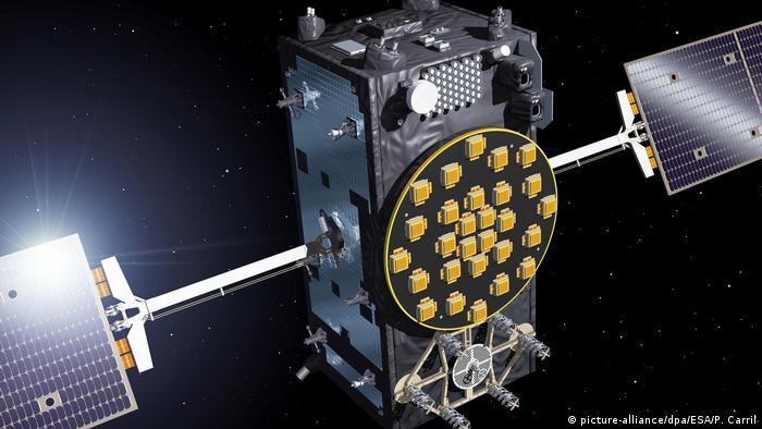 An illustraion of a European Galileo satellite