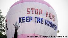 Indien Welt Aids Tag Ballon