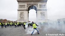 Gelbwesten-Protest in Paris