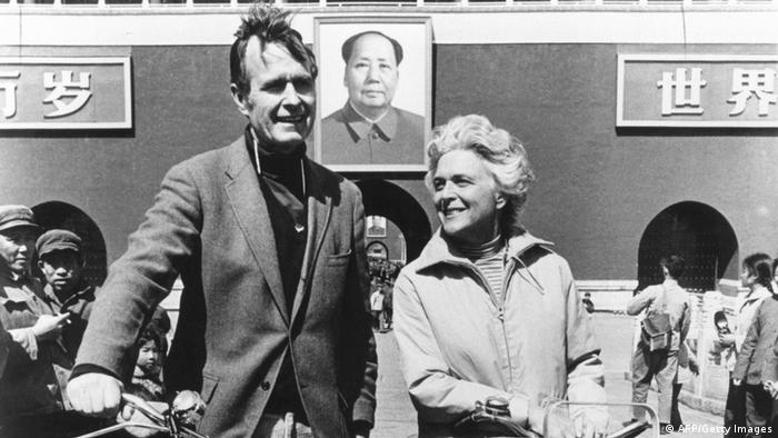 Ex-US-Präsident George H. W. Bush in China 1974 (AFP/Getty Images)