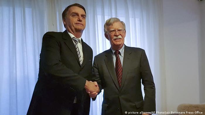 Jair Bolsonaro e John Bolton
