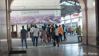 Bahnhaltstelle Maputo Mozambik