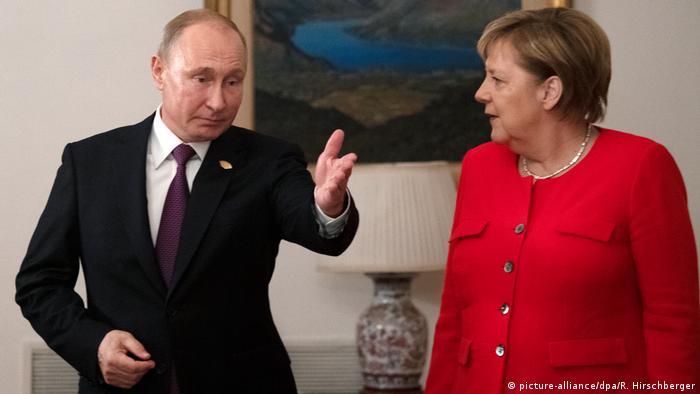 Путин и Меркель на саммите большой двадцатки