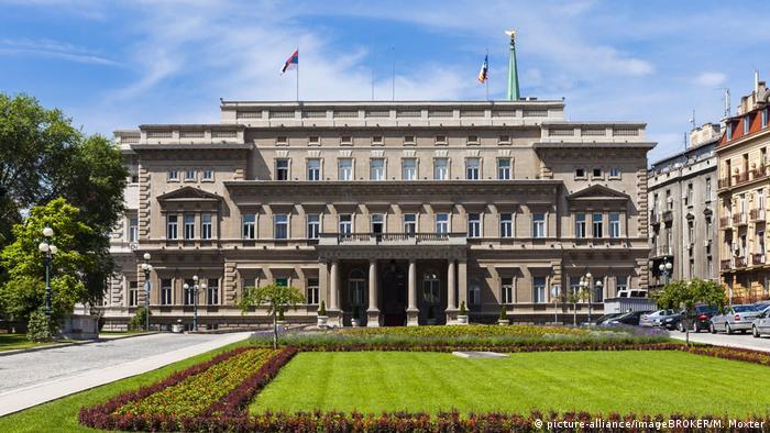 Serbien Belgrad Regierungspalast des Präsidenten (picture-alliance/imageBROKER/M. Moxter)