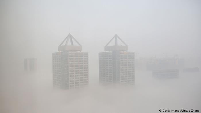 Thick fog engulfs Changzhou, China (Getty Images/Lintao Zhang)