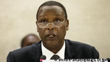 Schweiz ehem. Präsident von Burundi Pierre Buyoya